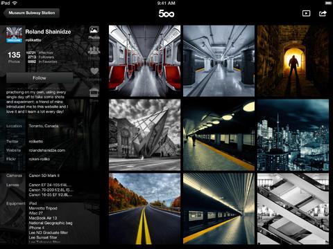 500px iPad App