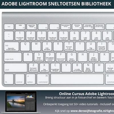 Adobe Lightroom Sneltoetsen