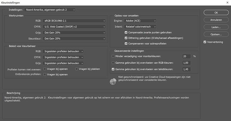 Kleurprofielen behouden in Adobe Photoshop CC