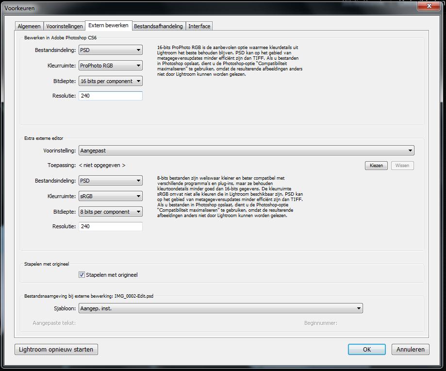 Kleurruimte Adobe Lightroom Aanpassen