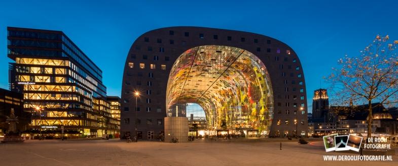 Nachtfoto Markthal Rotterdam kopen