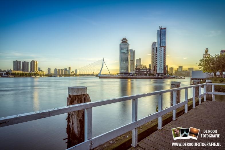 Foto Rotterdam Skyline Zonsopkomst