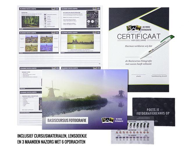 Fotografie cursus in Amersfoort - Cursusmaterialen