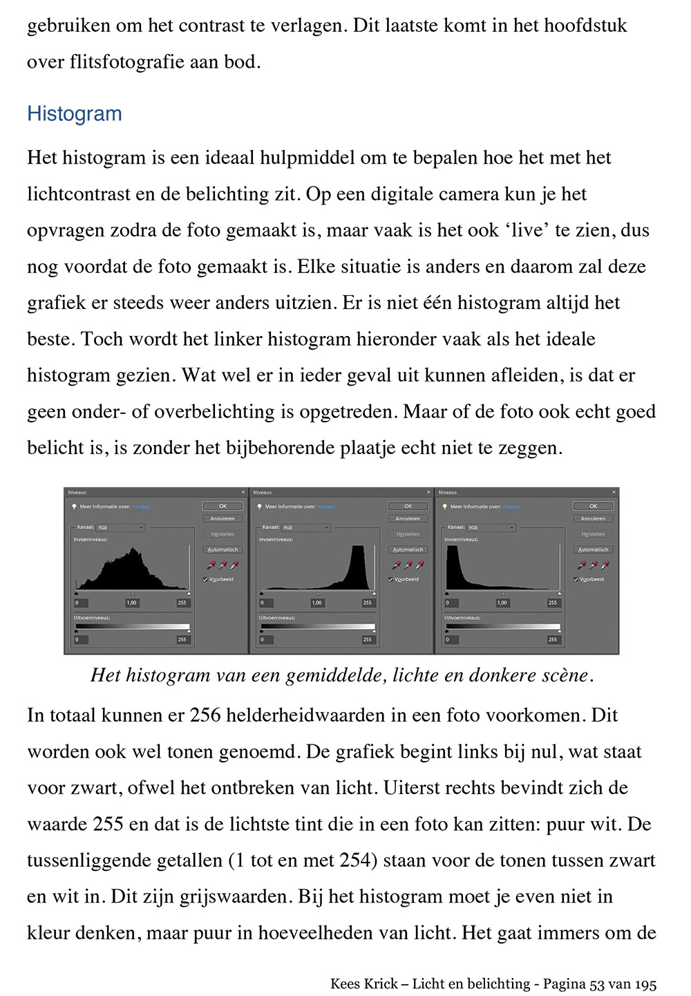 licht en belichting histogram pagina53