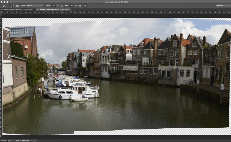 Panoramafotografie en Photomerge in Photoshop