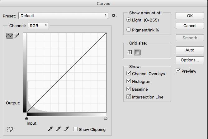 low key histogram