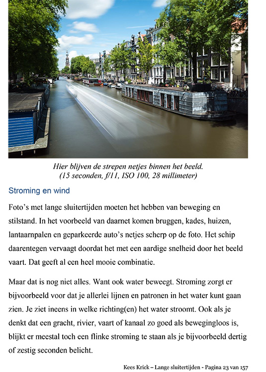 eBook Lange Sluitertijd Fotografie
