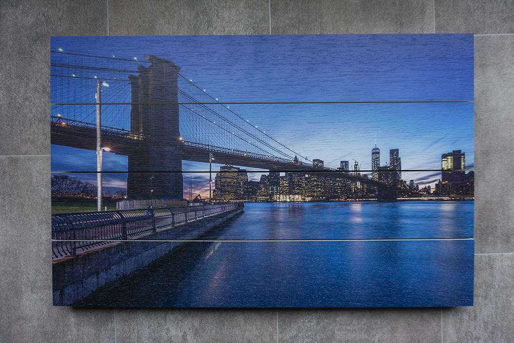 Foto op Hout: Skyline New York