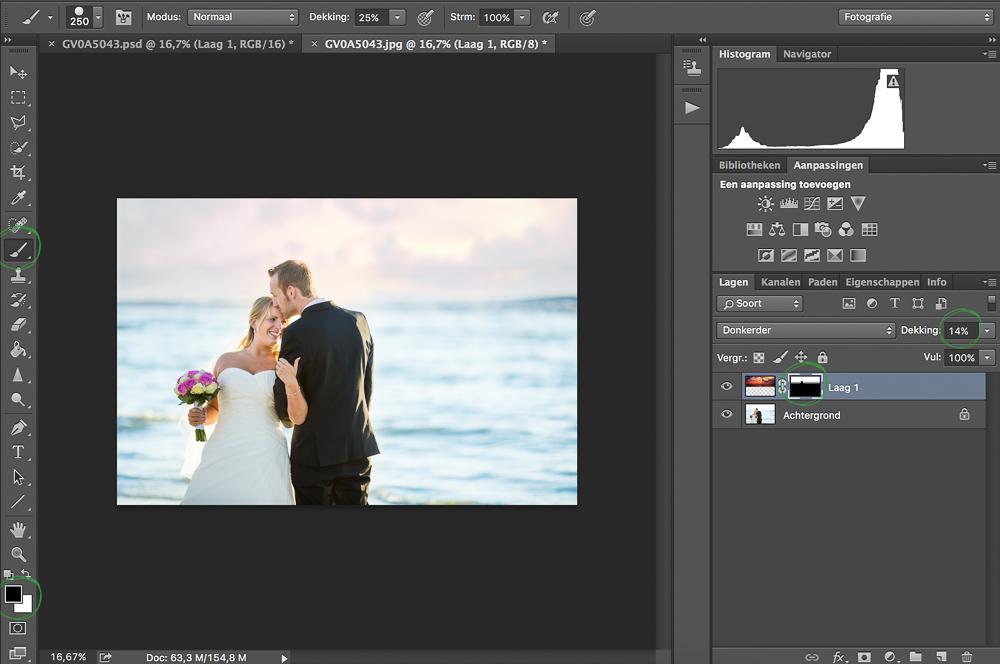 Luchten Vervangen in Adobe Photoshop CC