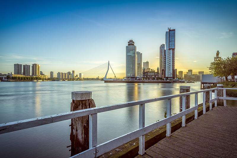 Wanddecoratie Rotterdam - Skyline Kop van Zuid