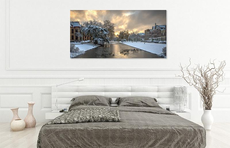 Wanddecoratie Rotterdam in je slaapkamer - De Rooij Fotografie