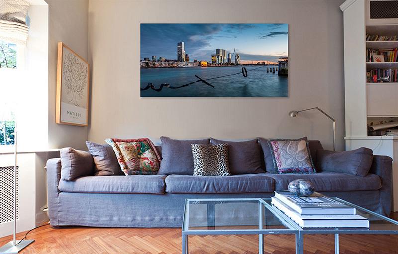 Wanddecoratie Rotterdam - Skyline Rotterdam