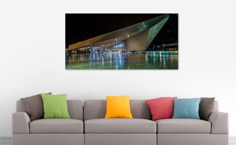Foto Rotterdam boven de bank