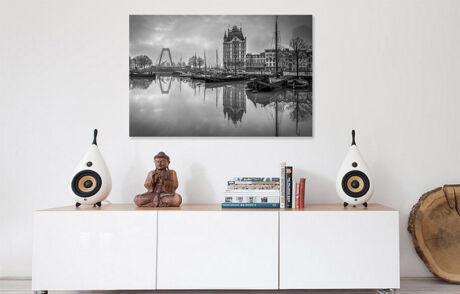 Foto van Rotterdam aan de muur