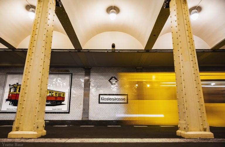Lange sluitertijd voorbeeld metro