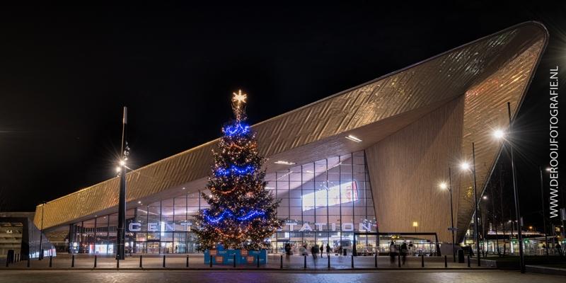 Kerstboom Centraal Station Rotterdam
