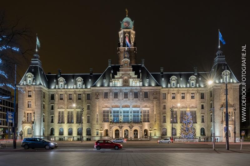 Kerstfoto Stadhuis Rotterdam