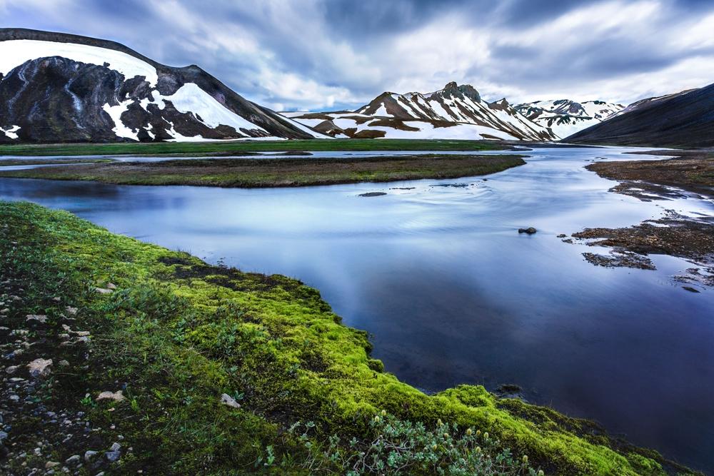 bewolkt weer landschap