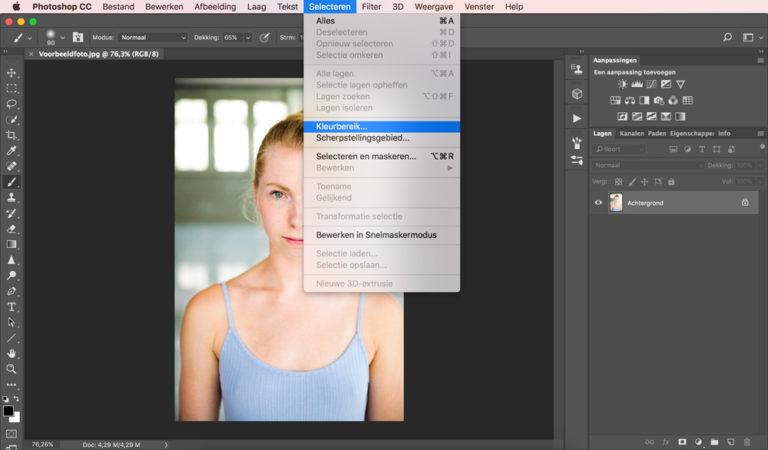 02 photoshop huidskleur aanpassen