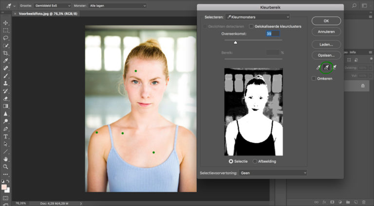 04 huid donkerder maken photoshop