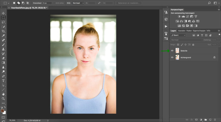 06 photoshop huidskleur aanpassen