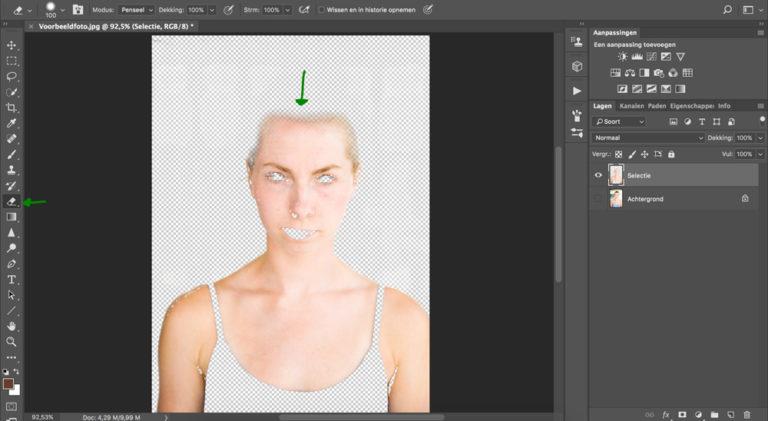 07 huid donkerder maken photoshop
