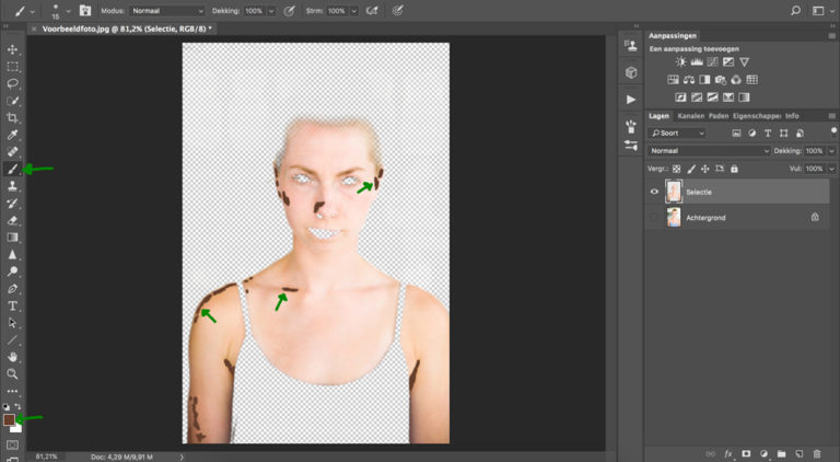 10 huid donkerder maken photoshop