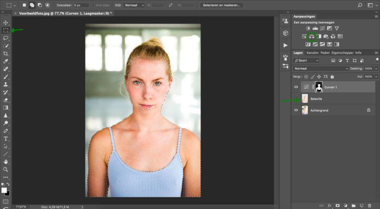 16 huidskleur aanpassen photoshop