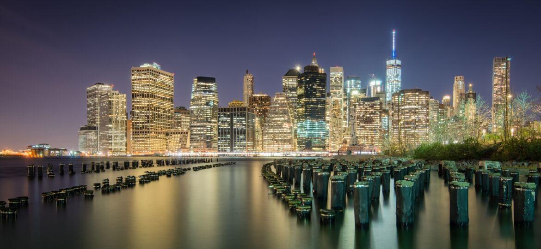 Mooiste foto's New York - Lange sluitertijd skyline Manhattan
