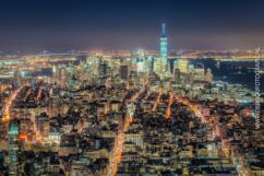 Mooiste foto's New York - Skyline Manhattan in de nacht vanaf Empire State Building