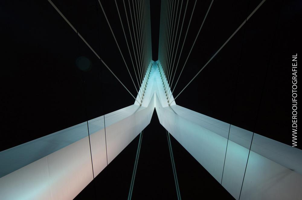 Mooiste nachtfoto van de Erasmusbrug