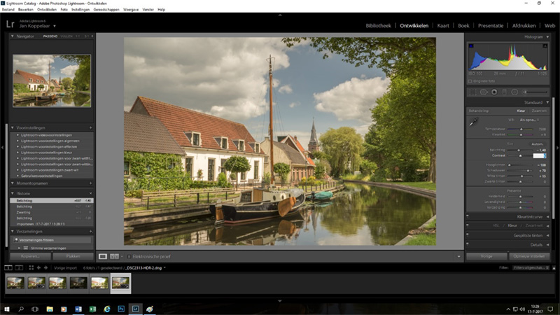 HDR foto in Adobe Lightroom CC