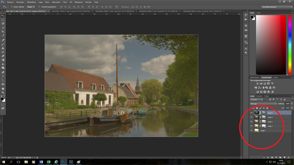 Luminantiemaskers Photoshop