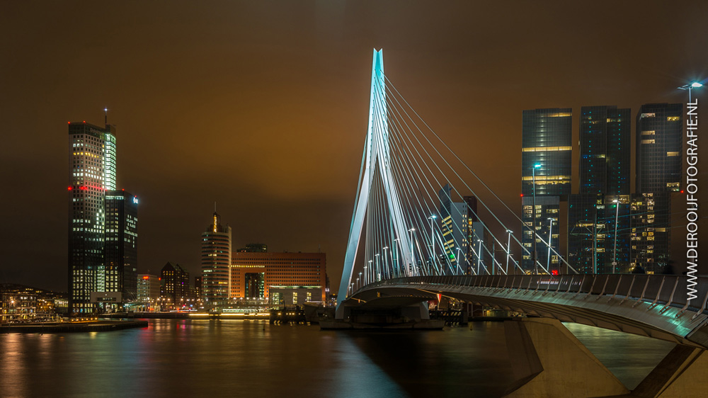 Mooiste foto van de Erasmusbrug in Rotterdam