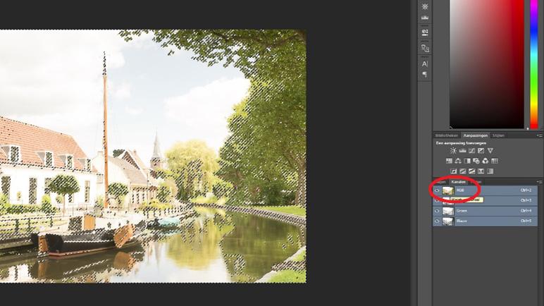 RGB masker maken in Photoshop