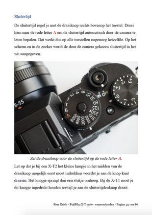 eBook Fujifilm X T Serie Camerastanden Voorproefje 1