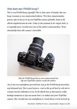 eBook Fujifilm X-T Serie - Camerastanden Voorproefje