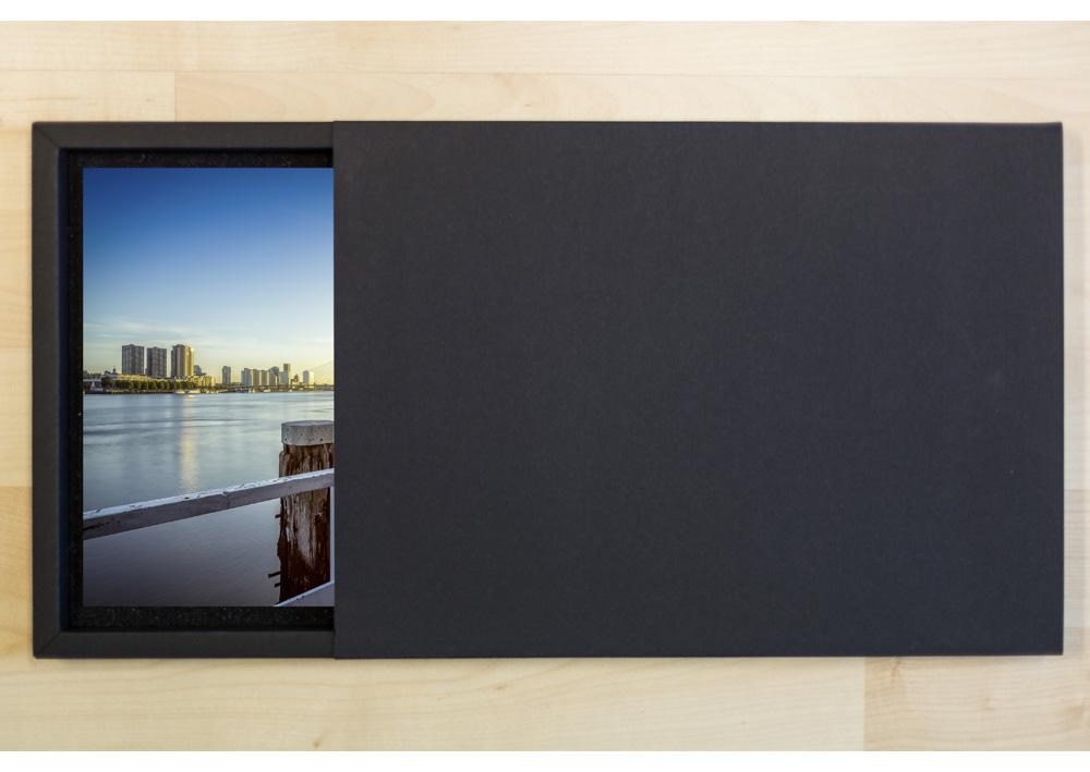 Fine Art Aluminium Foto's van de zonsopkomst in Rotterdam - Cadeaubox