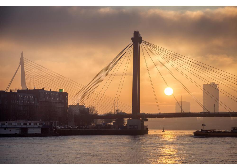 Fine art foto - Willemsbrug en Erasmusbrug in Rotterdam