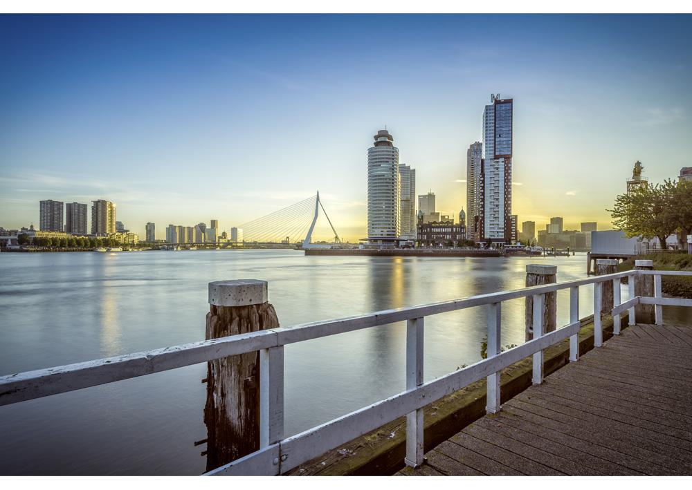 Fine art foto - Kop van Zuid vanaf Katendrecht in Rotterdam