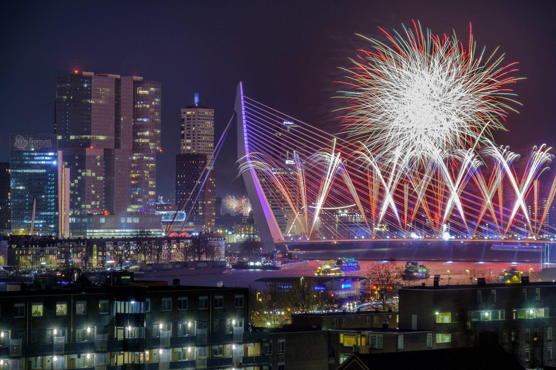 Vuurwerk foto - Nationaal vuurwerk Rotterdam 2018