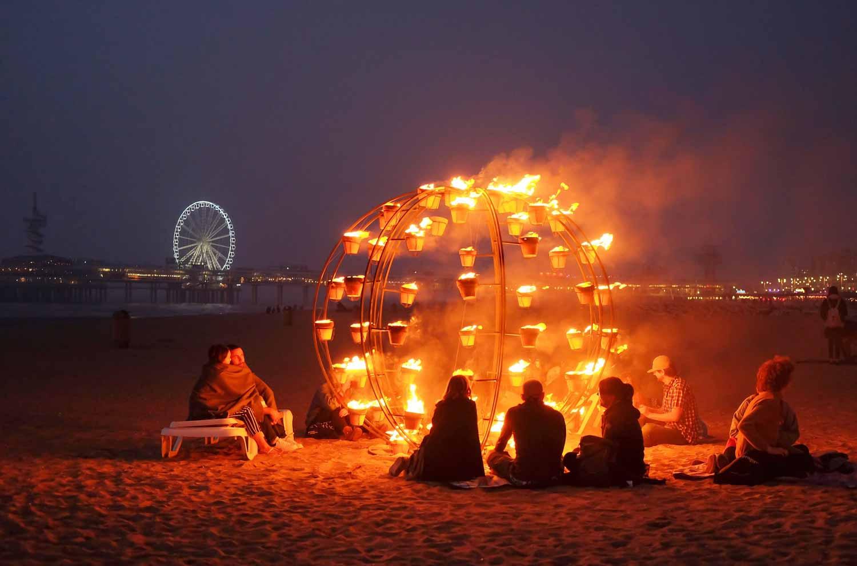 Bonfirebeachfest op het Scheveningse strand