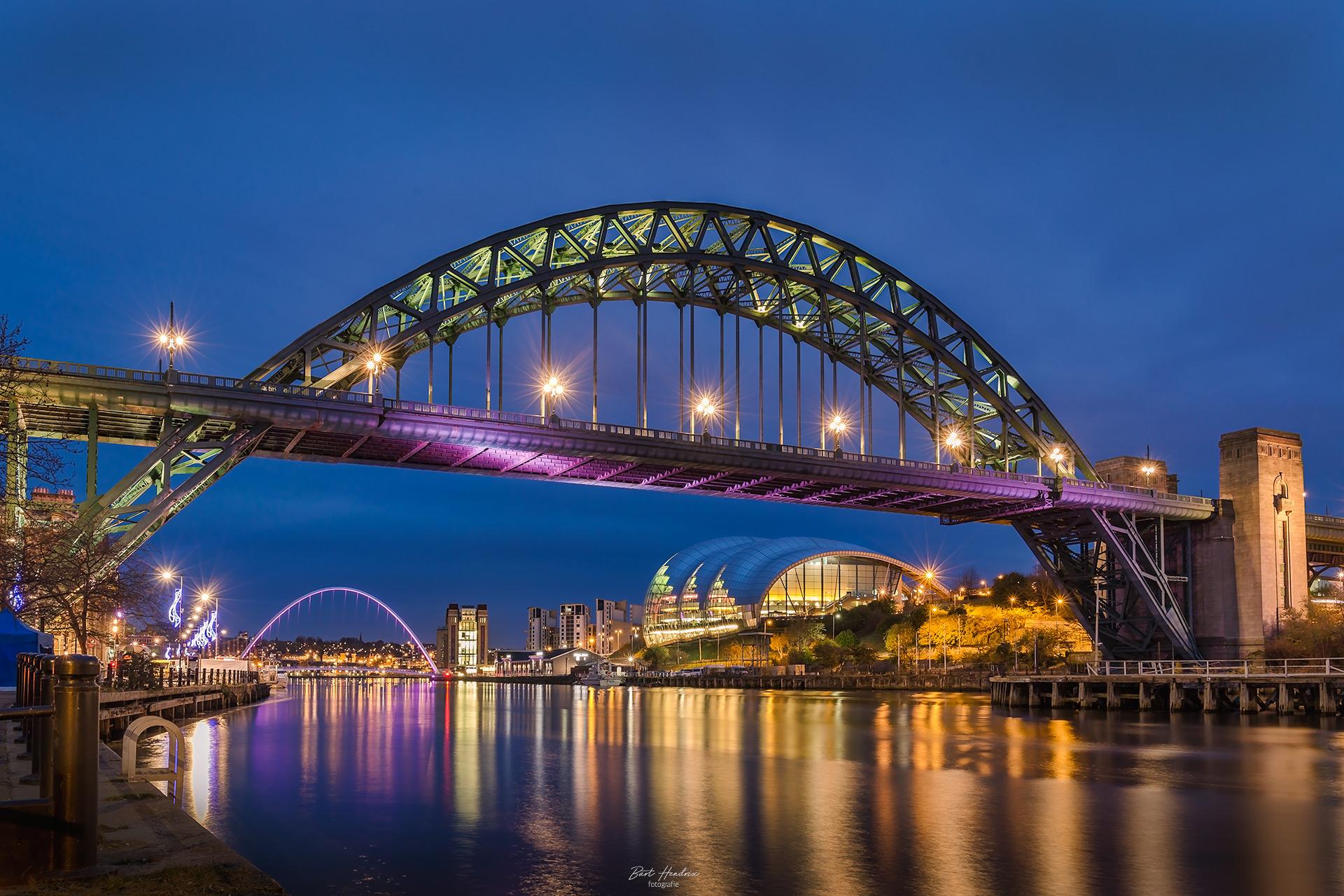 De Tyne Bridge in Newcastle fotograferen