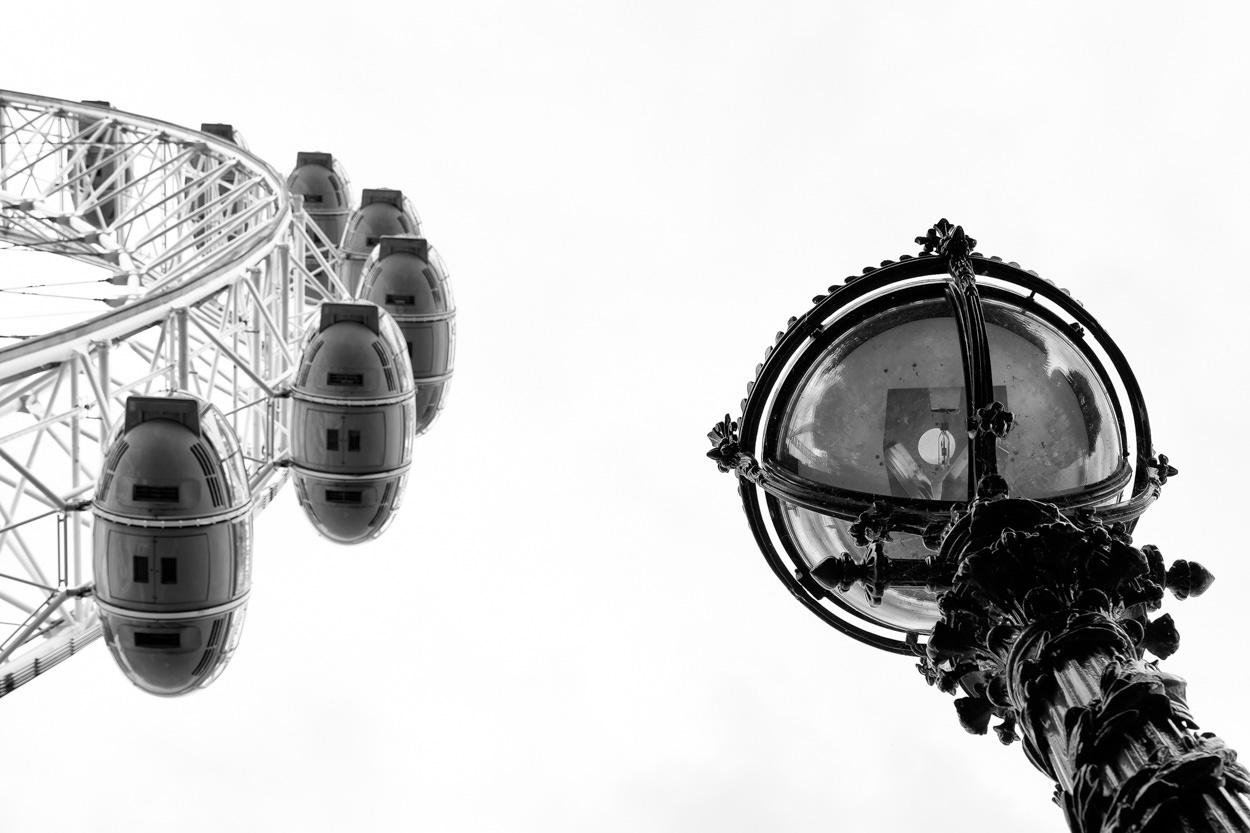 Mooiste foto's van Londen - Zwart-wit foto van de London Eye
