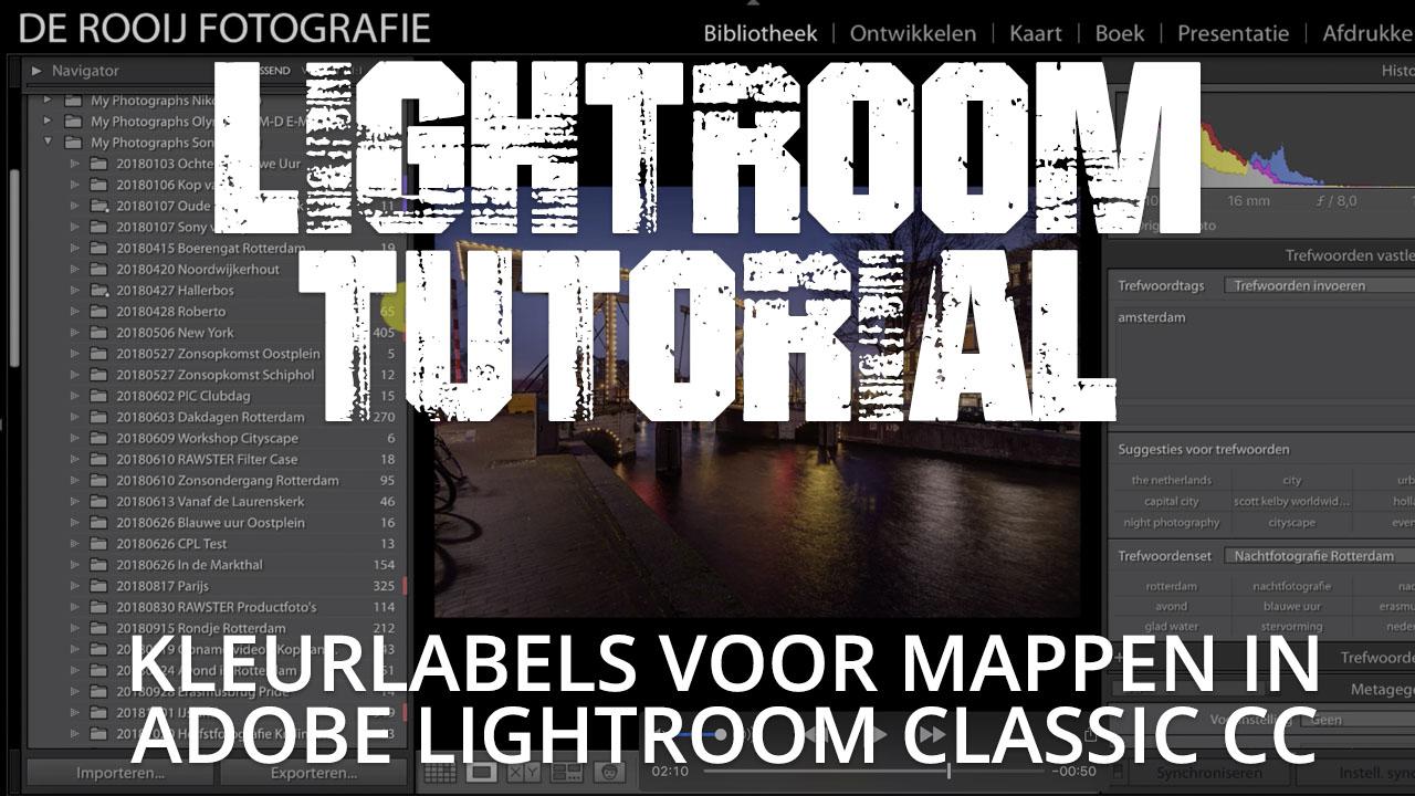 Kleurlabels voor mappen benoemen in Adobe Lightroom Classic CC