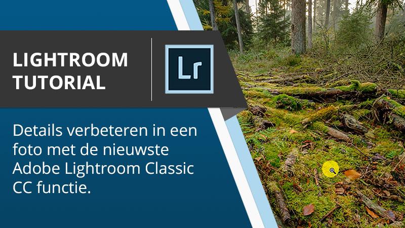 Lightroom Tutorial - Details verbeteren in een foto met de nieuwste Adobe Lightroom functie