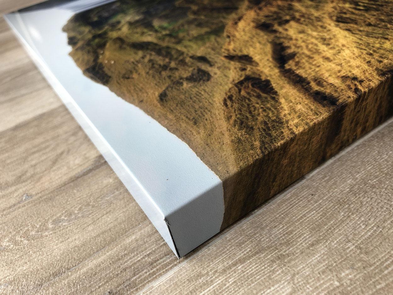 Foto afdruk op echt aluminium