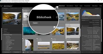 Online Cursus Adobe Lightroom Classic CC - Uitleg bibliotheek