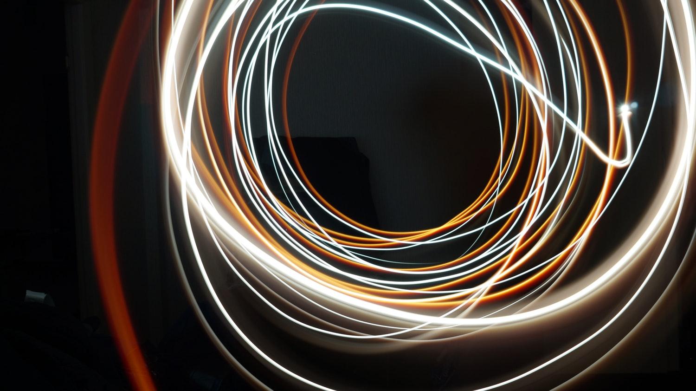 lichttekenen lange sluitertijd