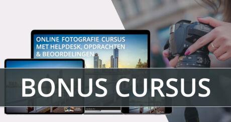 Gratis bonus cursus bij de online fotografie cursus